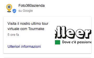 scheda google my business Tourmake